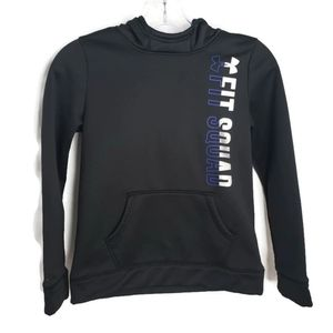 Under Armour Girl's Black Fit Squad Hoodie Size M